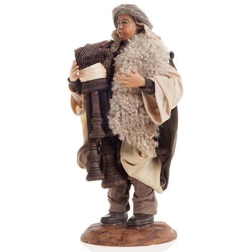 Neapolitan nativity figurine, bagpiper 18cm 3