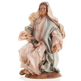 Neapolitan nativity set, Holy family 18cm s4