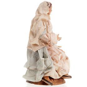 Neapolitan nativity set, Holy family 18cm s6