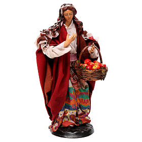 Donna con frutta 18 cm presepe napoletano s4