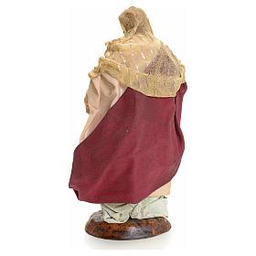 Neapolitan nativity figurine, Woman with fruit basket 18cm s12