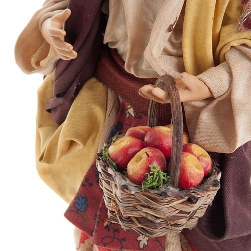 Neapolitan nativity figurine, Woman with fruit basket 18cm 6