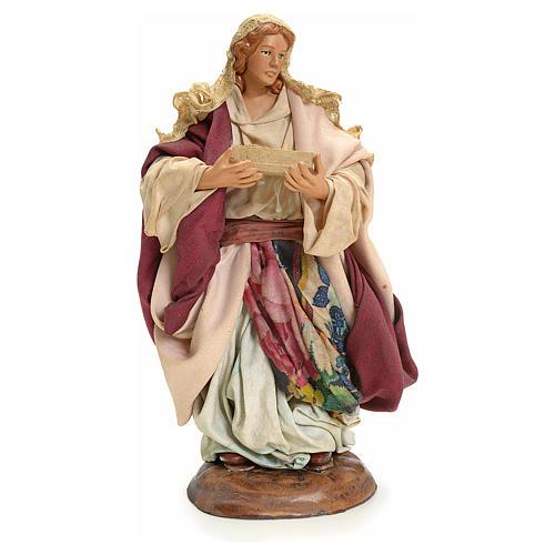 Neapolitan nativity figurine, Woman with fruit basket 18cm 2