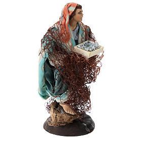 Neapolitan nativity figurine, Fisherman 18cm s4