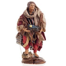 Neapolitan nativity figurine, Fisherman 18cm s1