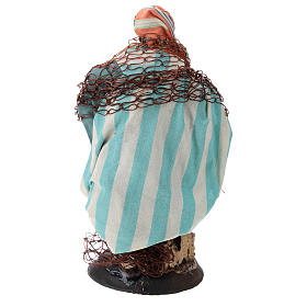 Neapolitan nativity figurine, Fisherman 18cm s5