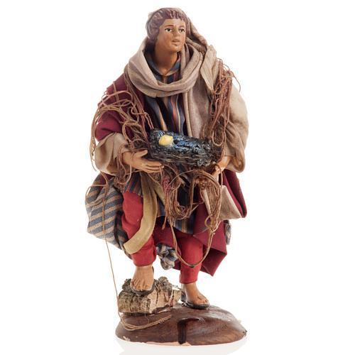 Neapolitan nativity figurine, Fisherman 18cm 1
