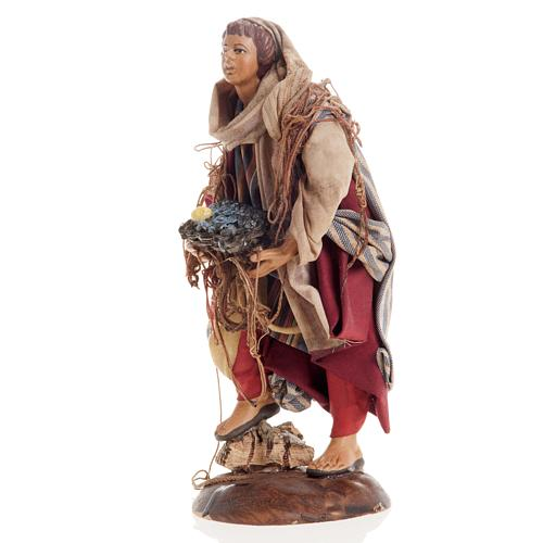 Neapolitan nativity figurine, Fisherman 18cm 3