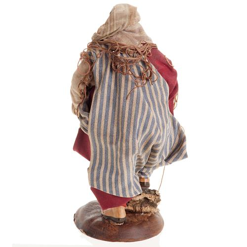 Neapolitan nativity figurine, Fisherman 18cm 5