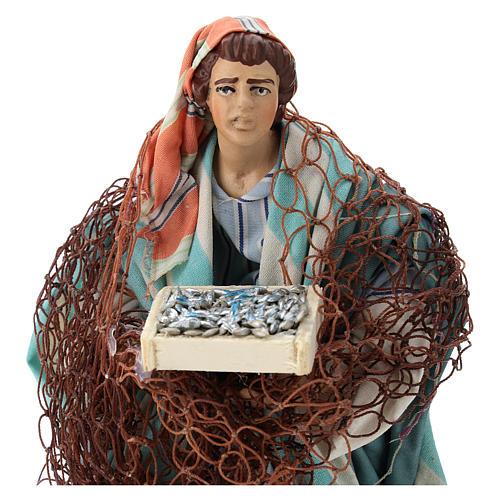 Neapolitan nativity figurine, Fisherman 18cm 2
