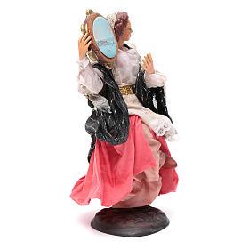 Neapolitan nativity figurine, woman with tambourine 18cm s3