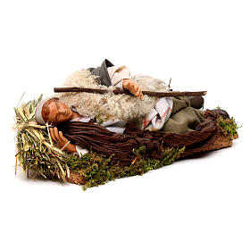 Neapolitan nativity figurine, sleeping man 18cm s4
