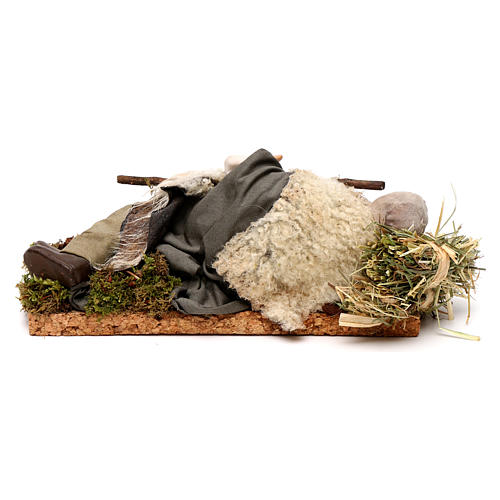 Neapolitan nativity figurine, sleeping man 18cm 5