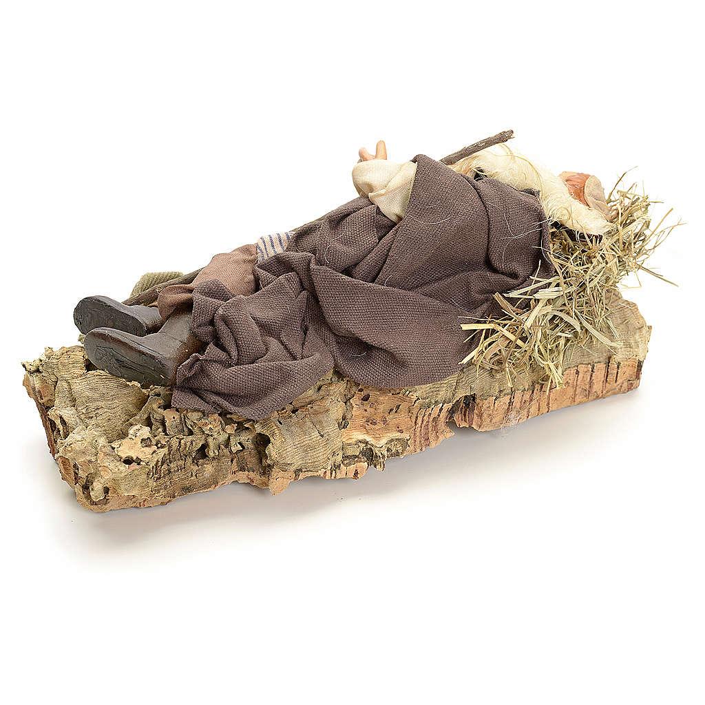 Berger endormi 18 cm crèche Napolitaine 4