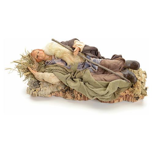 Berger endormi 18 cm crèche Napolitaine 1