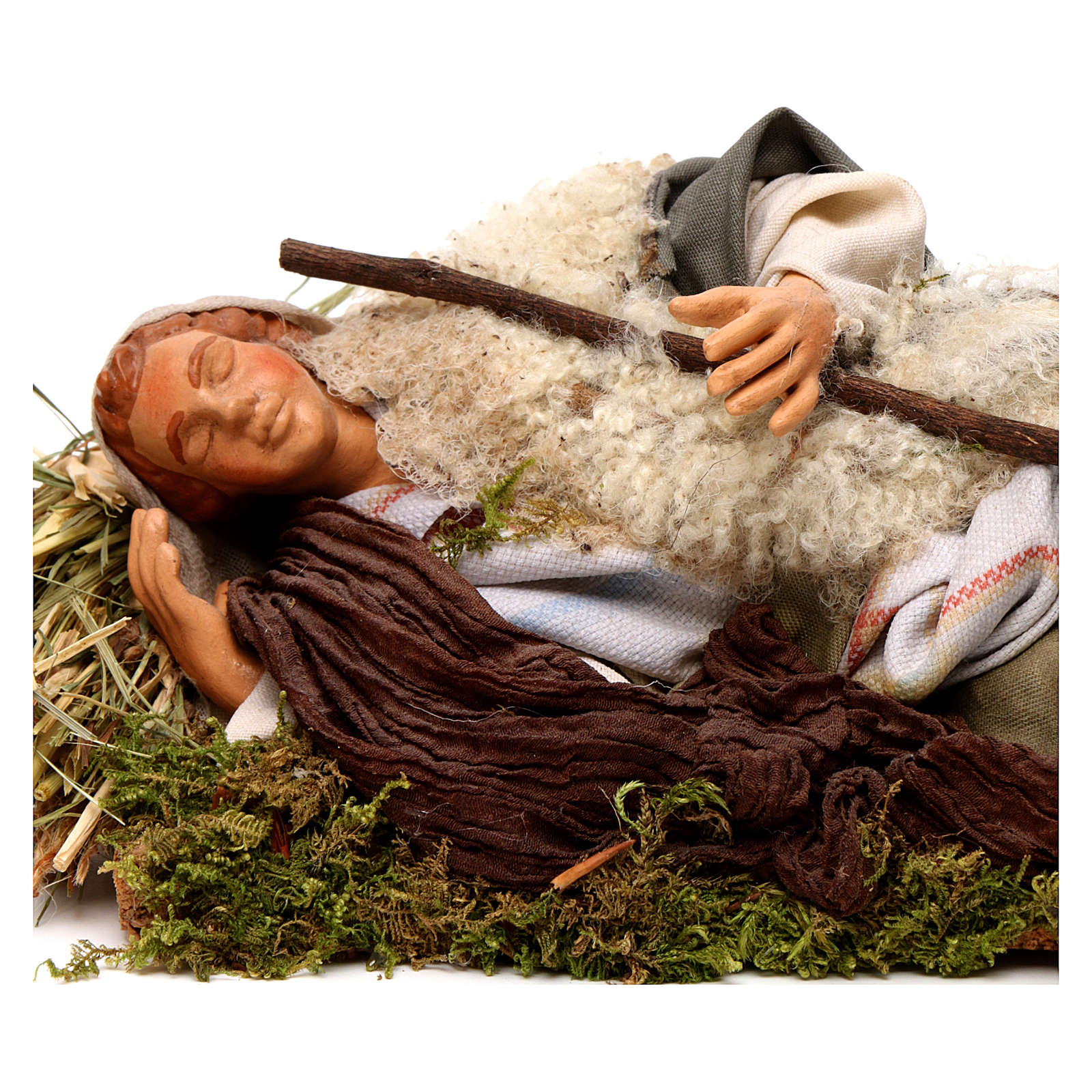 Neapolitan nativity figurine, sleeping man 18cm 4