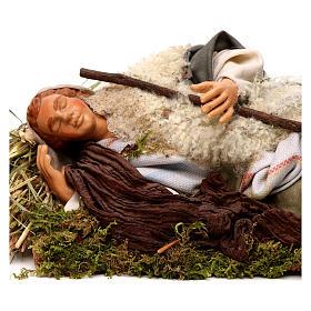 Neapolitan nativity figurine, sleeping man 18cm s2