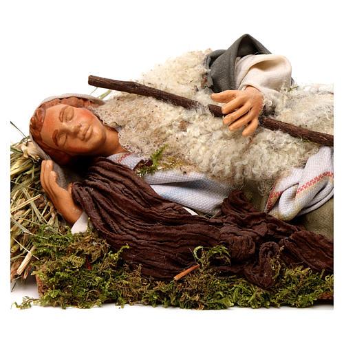 Neapolitan nativity figurine, sleeping man 18cm 2