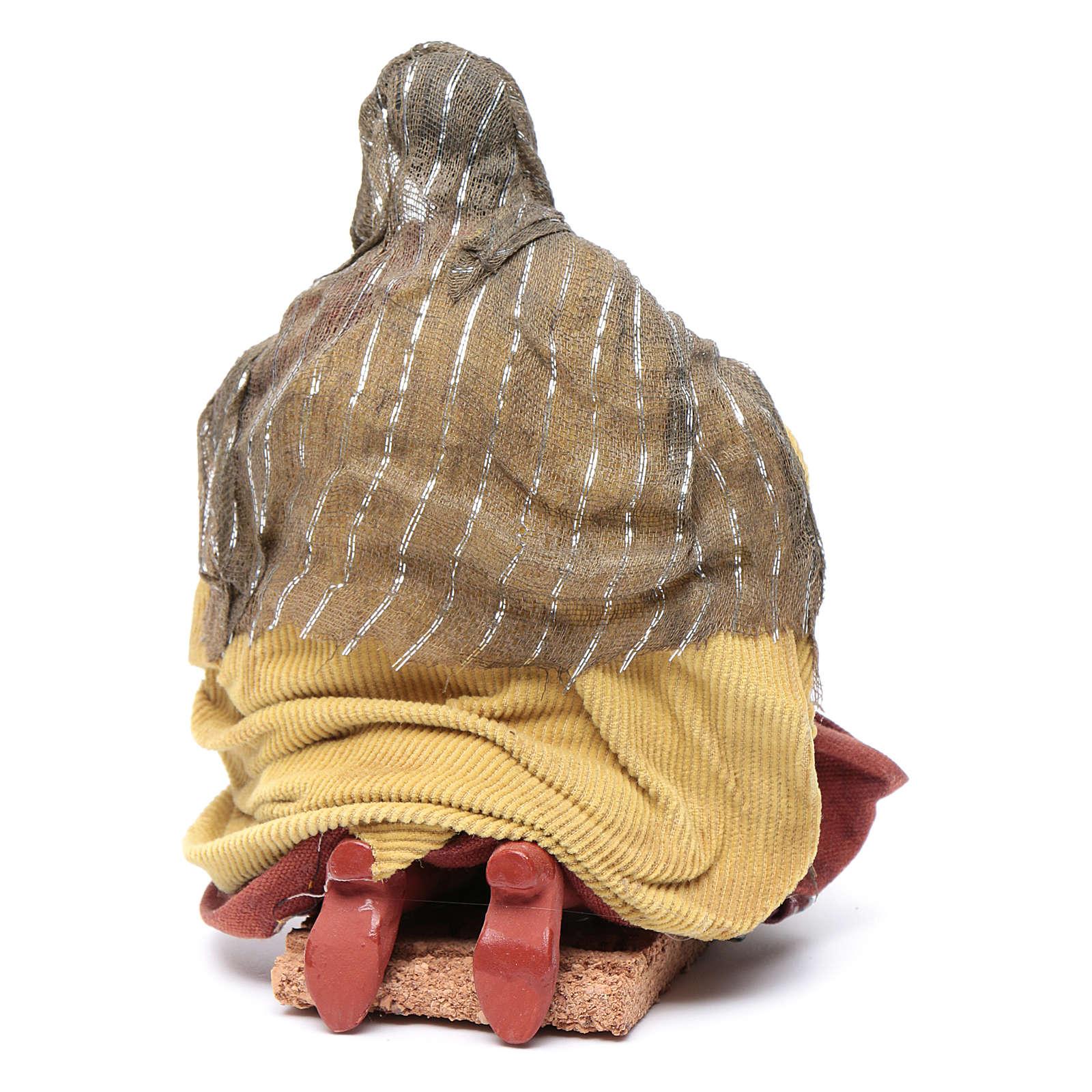 Neapolitan nativity figurine, washerwoman 18cm 4
