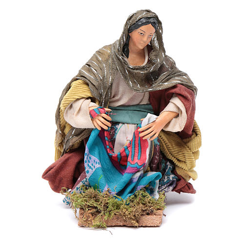 Neapolitan nativity figurine, washerwoman 18cm 1