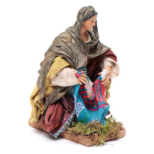 Neapolitan nativity figurine, washerwoman 18cm 3