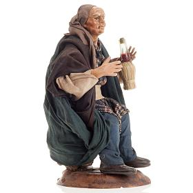 Neapolitan nativity figurine, drunk man 18cm s2