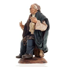Neapolitan nativity figurine, drunk man 18cm s3