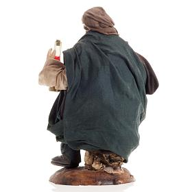 Neapolitan nativity figurine, drunk man 18cm s4