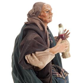 Neapolitan nativity figurine, drunk man 18cm s5
