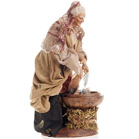 Neapolitan nativity figurine, old washerwoman 18cm s2