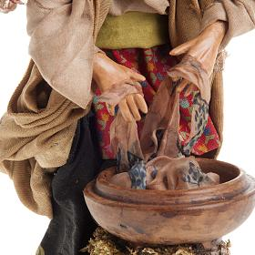 Neapolitan nativity figurine, old washerwoman 18cm s4