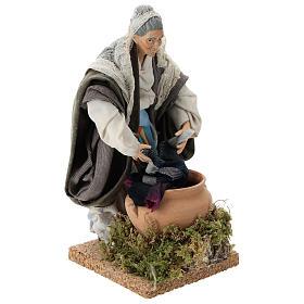 Neapolitan nativity figurine, old washerwoman 18cm s4