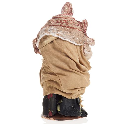 Neapolitan nativity figurine, old washerwoman 18cm 5