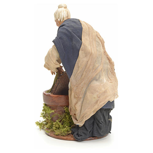 Neapolitan nativity figurine, old washerwoman 18cm 8