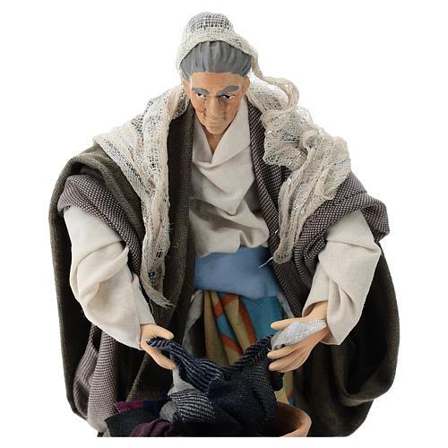 Neapolitan nativity figurine, old washerwoman 18cm 2