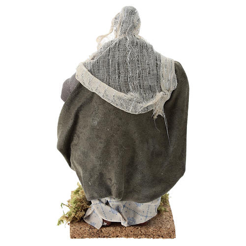 Neapolitan nativity figurine, old washerwoman 18cm 5