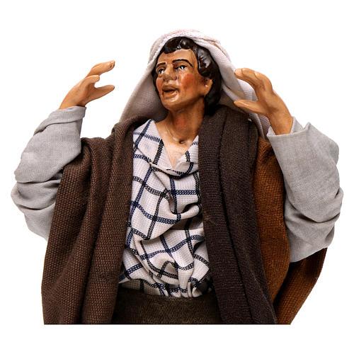 Neapolitan nativity figurine, kneeling man 18cm 2