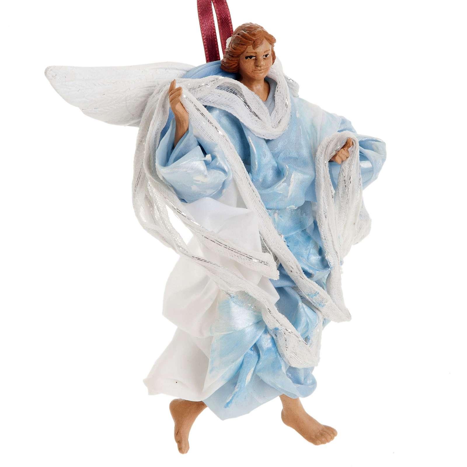 Angelo azzurro 18 cm presepe napoletano 4