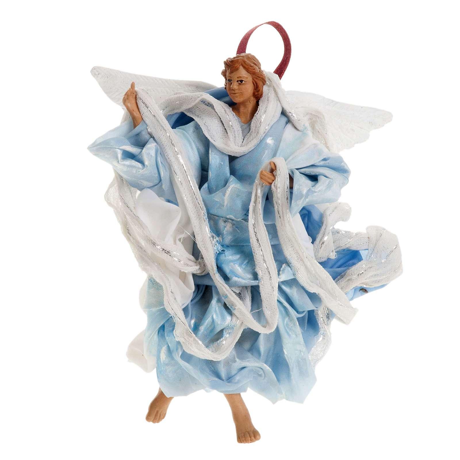 Neapolitan nativity figurine, blue angel 18cm 4
