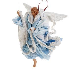 Neapolitan nativity figurine, blue angel 18cm s3