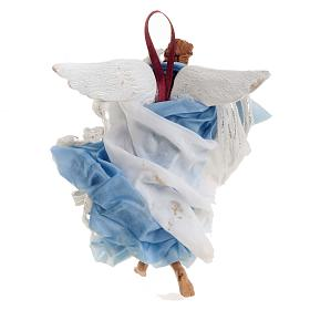 Neapolitan nativity figurine, blue angel 18cm s4