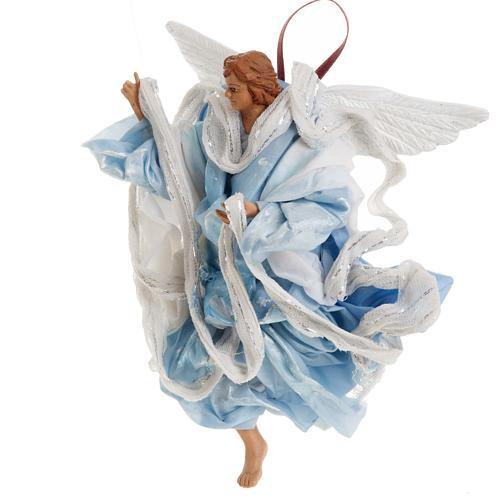 Neapolitan nativity figurine, blue angel 18cm 3