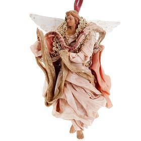 Ange rose 18 cm crèche Napolitaine s1