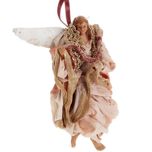 Ange rose 18 cm crèche Napolitaine 2