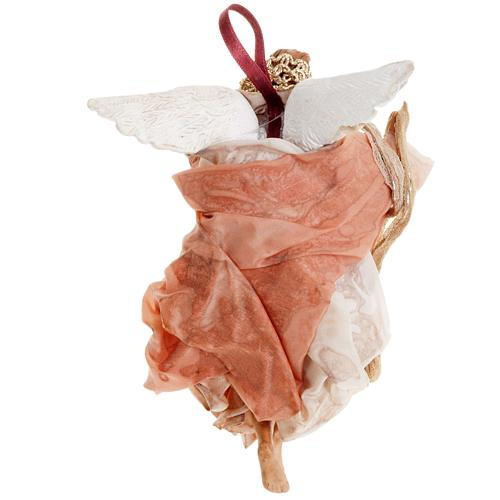 Ange rose 18 cm crèche Napolitaine 4