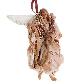 Angelo rosa 18 cm presepe napoletano s2