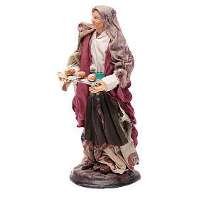 Donna con cesto di pane 18 cm presepe Napoli s2