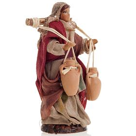 Neapolitan nativity figurine, female water carrier 8cm s2