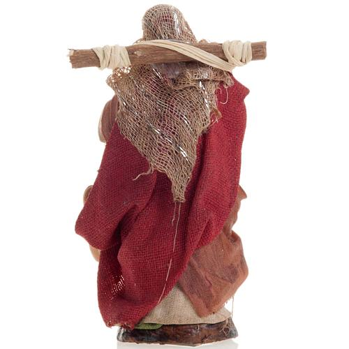 Neapolitan nativity figurine, female water carrier 8cm 3