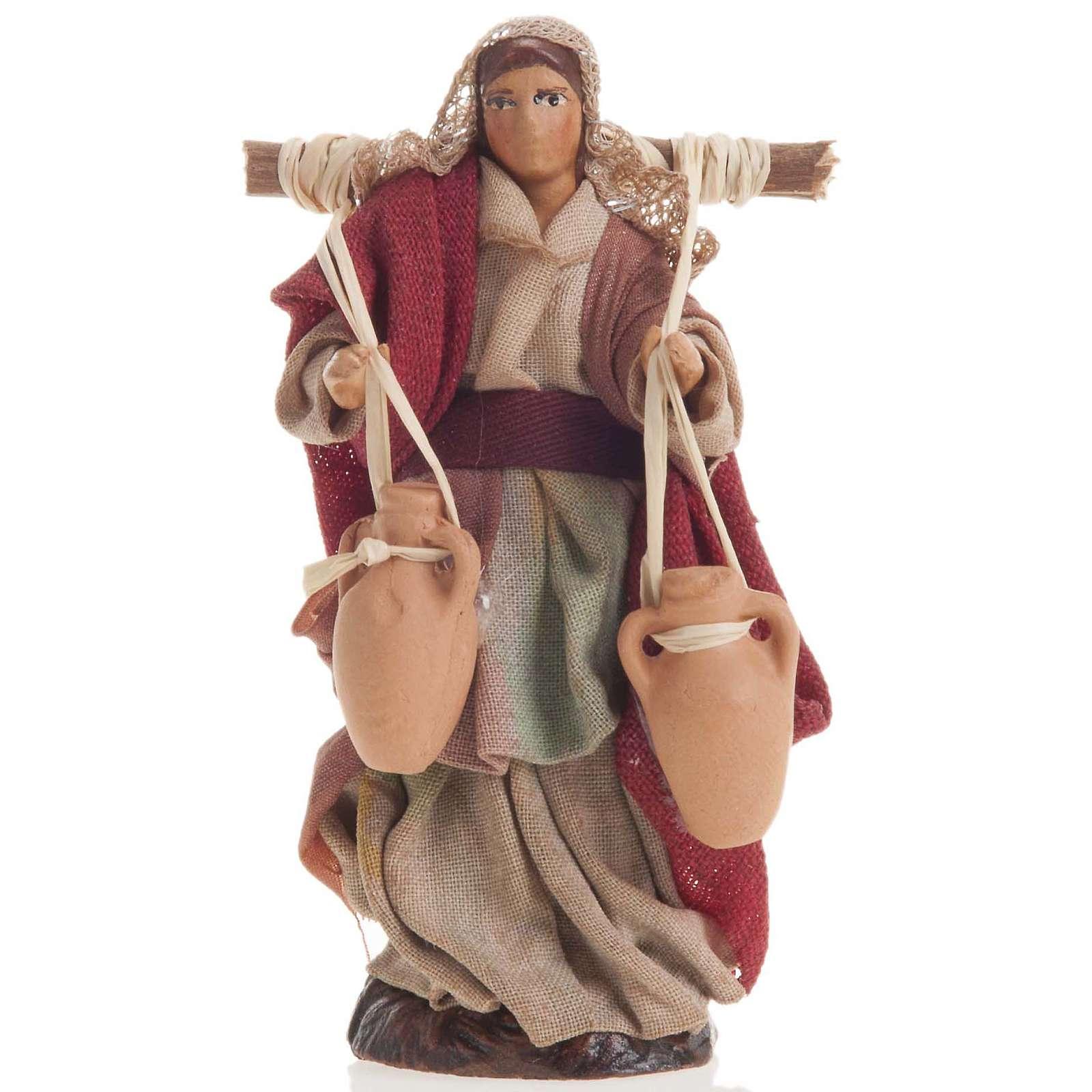 Neapolitan nativity figurine, female water carrier 8cm 4